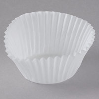 White Fluted Baking Cup 1 1/4 inch x 7/8 inch   - 1000/Pack