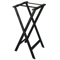 CSL 1500BLK-1 30 inch Black Plastic Tray Stand with Black Straps