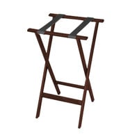 CSL 1170MAH-1 Deluxe 30 inch Mahogany Wood Tray Stand with Black Straps