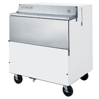 Beverage-Air SMF34HC-1-W 34 inch White 1-Sided Forced Air Milk Cooler
