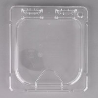 Carlisle CM10318Z07 Coldmaster EZ Access 1/6 Size Clear Polycarbonate Food Pan Lid with Handle