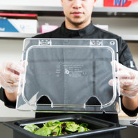 Carlisle CM10240Z07 Coldmaster EZ Access 1/2 Size Clear Polycarbonate Food Pan Lid with 2 Notches