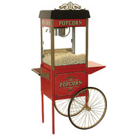 Benchmark USA 30010 Street Vendor Antique Trolley Popcorn Cart