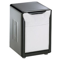San Jamar H985BK Lowfold Two-Sided Tabletop Napkin Dispenser - Black