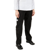 Mercer Culinary Genesis® M61100 Black Women's Cargo Pants - Extra Small