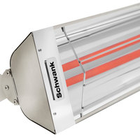 Schwank ES-5039-20 2 Stage Electric Stainless Steel Indoor/Outdoor Patio Heater - 208V, 5000W