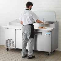 Avantco APPT-71-HC 71 inch 2 Door Refrigerated Pizza Prep Table