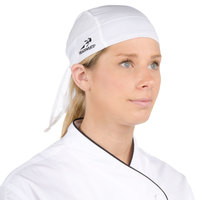 Headsweats White Customizable Eventure Fabric Adjustable Chef Bandana / Do Rag