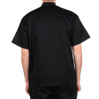 Chef Revival Silver Knife and Steel J005 Unisex Black Customizable Short Sleeve Chef Jacket - XS