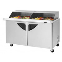 Turbo Air TST-60SD-24-N-SL 60 inch 2 Door Mega Top Sliding Lid Refrigerated Sandwich Prep Table