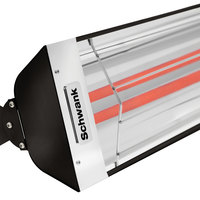 Schwank ES-5039-20 2 Stage Electric Black Indoor/Outdoor Patio Heater - 208V, 5000W
