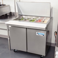 Avantco SS-PT-36M-HC 36 inch 2 Door Mega Top Stainless Steel Refrigerated Sandwich Prep Table