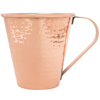 Acopa Alchemy 18 oz. Tapered Hammered Copper Moscow Mule Mug - 4/Pack