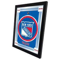 Holland Bar Stool MLogoNYRang 17 inch x 22 inch New York Rangers Decorative Logo Mirror