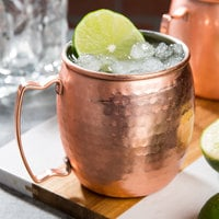 Acopa Alchemy 16 oz. Hammered Copper Moscow Mule Mug - 12/Pack