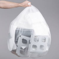 56 Gallon 16 Micron 43 inch x 48 inch Lavex Janitorial High Density Can Liner / Trash Bag - 200/Case