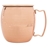 Acopa Alchemy 16 oz. Hammered Copper Moscow Mule Mug - 4/Pack