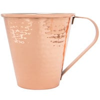 Acopa Alchemy 18 oz. Tapered Hammered Copper Moscow Mule Mug