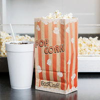 Bagcraft Packaging 300611 4 1/4 inch x 2 1/2 inch x 8 1/4 inch 46 oz. EcoCraft Popcorn Bag - 1000/Case