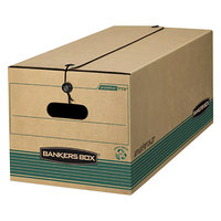 Fellowes 00773 12 1/4 inch x 16 inch x 10 3/4 inch Kraft Extra-Strength Letter Sized Storage Box - 12/Case