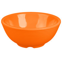 Tablecraft RAM4RX 4 oz. Orange Round Ribbed Melamine Ramekin - 12/Pack
