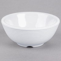 Tablecraft RAM4RW 4 oz. White Round Ribbed Melamine Ramekin   - 12/Pack