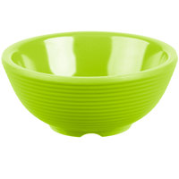 Tablecraft RAM2RGN 2 oz. Green Round Ribbed Melamine Ramekin   - 12/Pack
