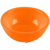 Tablecraft RAM3RX 3 oz. Orange Round Ribbed Melamine Ramekin   - 12/Pack