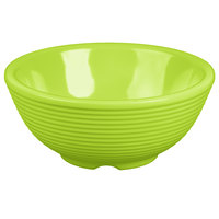 Tablecraft RAM4RGN 4 oz. Green Round Ribbed Melamine Ramekin - 12/Pack