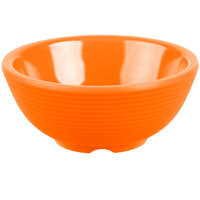 Tablecraft RAM2RX 2 oz. Orange Round Ribbed Melamine Ramekin - 12/Pack