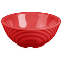 Tablecraft RAM4RR 4 oz. Red Round Ribbed Melamine Ramekin - 12/Pack