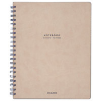 At-A-Glance YP14307 Collection Twinwire Tan / Navy Blue 11 inch x 8 3/4 inch Legal Ruled Notebook - 80 Sheets