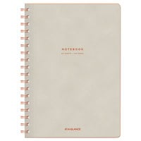 At-A-Glance YP14007 Collection Twinwire Tan / Red 9 1/2 inch x 7 1/4 inch Legal Ruled Notebook - 80 Sheets
