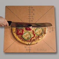 American Metalcraft MPCUT4 20 inch x 20 inch x 1/4 inch Compressed Wood Pizza Slice Cutting Guide, 4/8 Slice