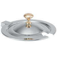 Vollrath 8261720 Miramar® Hinged Cover with Brass Knob for 10 Qt. 8231220 Stainless Steel Soup Inset