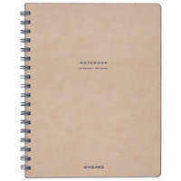 At-A-Glance YP14207 Collection Twinwire Tan / Navy Blue 9 1/2 inch x 7 1/4 inch Legal Ruled Notebook - 80 Sheets