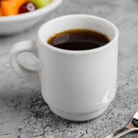 World Tableware 840-145-006 Porcelana 3.5 oz. Bright White Tall Porcelain Espresso Cup - 36/Case