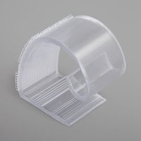 Snap Drape KV Clear Plastic Table Skirt Clip with Velcro® Attachment - 100/Bag