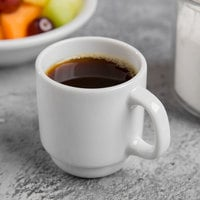 World Tableware 840-150-007 Porcelana 2.5 oz. Bright White Short Porcelain Espresso Cup - 36/Case