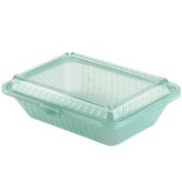 GET EC-11 9 inch x 6 1/2 inch x 2 1/2 inch Jade Green Customizable Reusable Eco-Takeouts Container - 12/Case