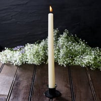 10 inch Ivory 10 Hour Taper Candle   - 12/Pack