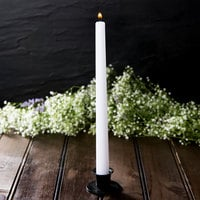 10 inch White 10 Hour Taper Candle   - 144/Case