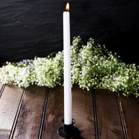 12 inch White 12 Hour Taper Candle   - 12/Pack