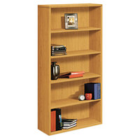 HON 105535CC 10500 Series Harvest 5 Shelf Laminate Wood Bookcase - 36 inch x 13 1/8 inch x 71 inch