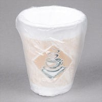 Dart 10X10GWRAP ThermoGlaze 10 oz. Cafe G Hotel and Motel Individually Wrapped Foam Hot Cup - 900/Case