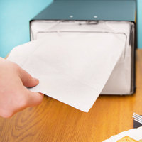 Morcon D1217 White Off-Fold Full-Fold 9 1/2 inch x 17 inch Dispenser Napkin - 6000/Case