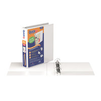 Stride 88020 QuickFit White View Binder with 1 1/2 inch Round Rings