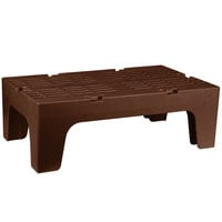 Cambro DRS360131 S-Series 36 inch x 21 inch x 12 inch Brown Slotted Top Bow Tie Dunnage Rack - 1500 lb. Capacity