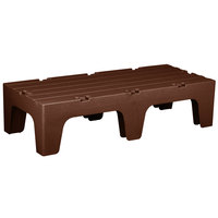 Cambro DRS48131 S-Series 48 inch x 21 inch x 12 inch Brown Solid Top Bow Tie Dunnage Rack - 3000 lb. Capacity
