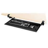 Fellowes 8038302 Designer Suites DeskReady 19 3/16 inch x 9 13/16 inch Black Pearl Keyboard Drawer